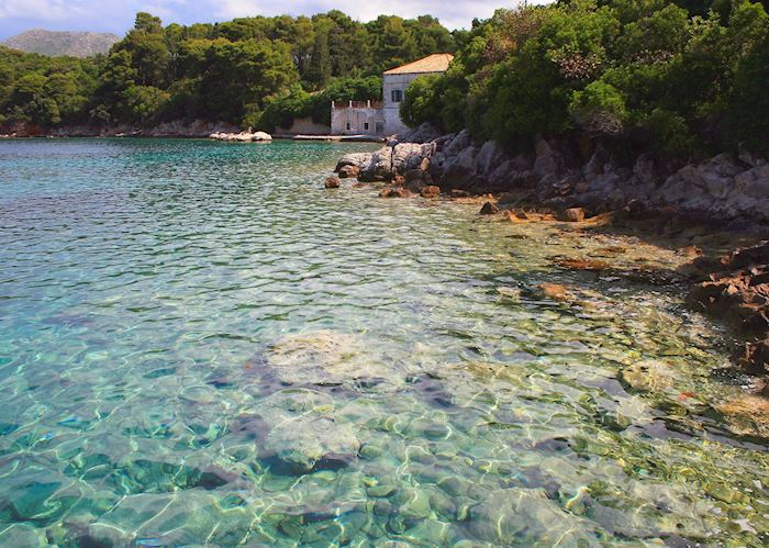 Clears water of the Adriatic Sea, Elaphiti Islands