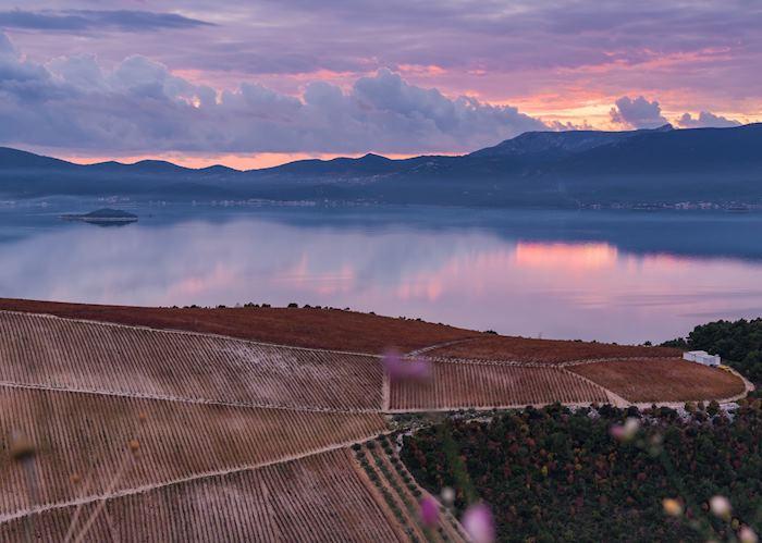 Sunset over the Peljesac Peninsula, Croatia