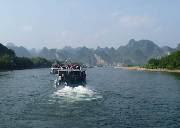 Shared boat journey along the Li River, Guilin