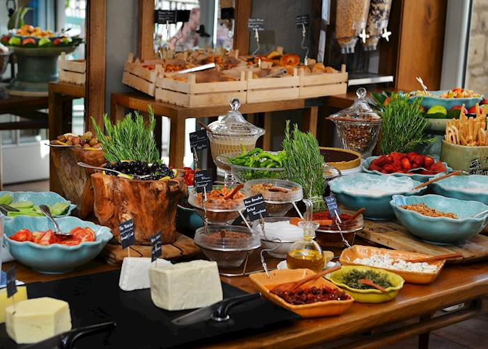 Breakfast at the Alavya Hotel, Alacati