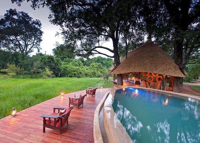 Pool and deck,Nkwali Safari Camp,South Luangwa National Park