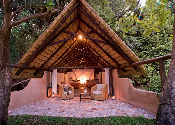 Standard chalet, Nkwali Safari Camp, South Luangwa National Park