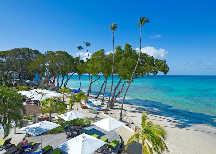 Beach and deck, Tamarind by Elegant Hotels, Barbados