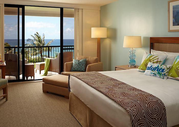 Partial ocean view room, Turtle Bay Resort, Oahu