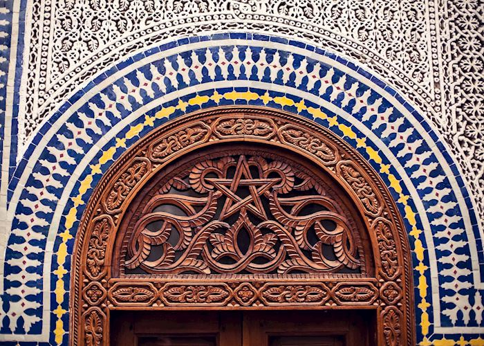 Traditional Moroccan tile work