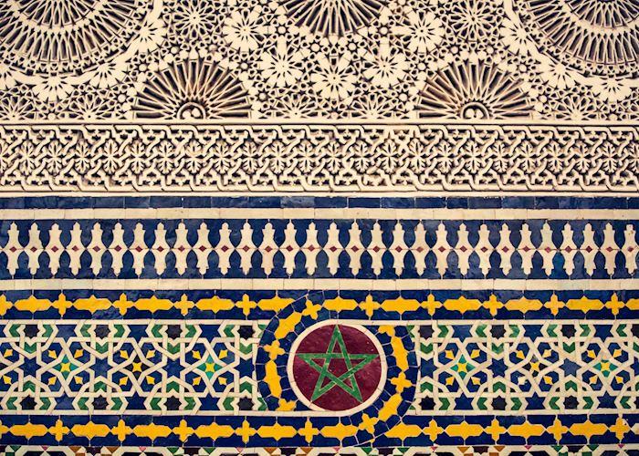 Traditional Moroccan tile-work