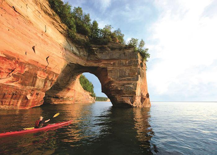 Kayaking near Marquette