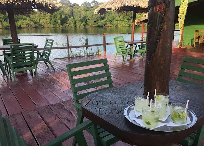 Welcome caipirinhas at Amazon Lodge
