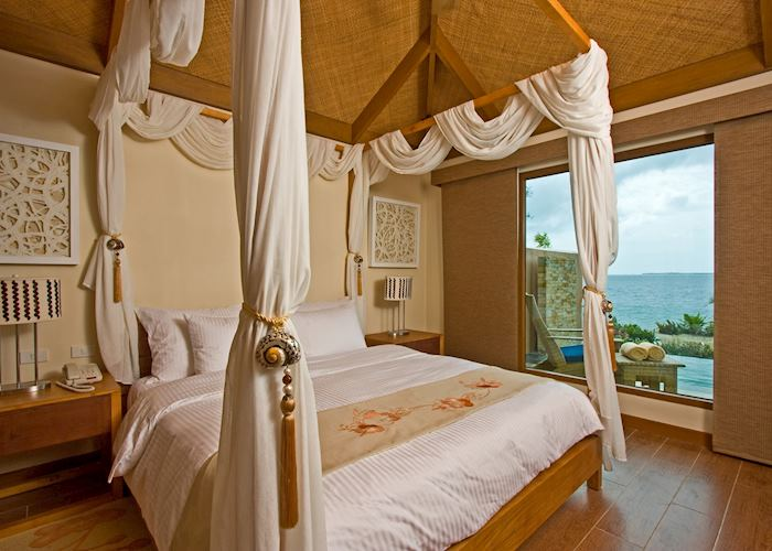 Villa bedroom, Crimson Beach Resort & Spa, Cebu
