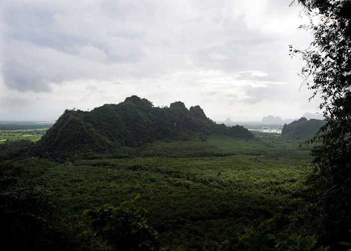 View of the Hpa An region from Mount Zwekabin, Myanmar