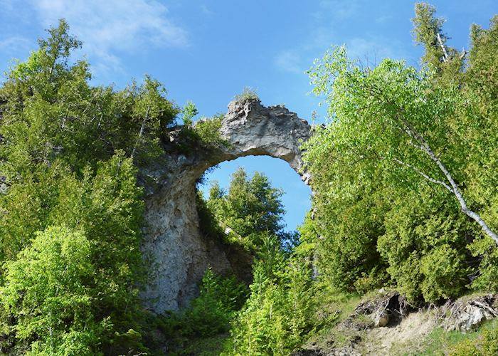 Natural rock arch, Mackinac Island