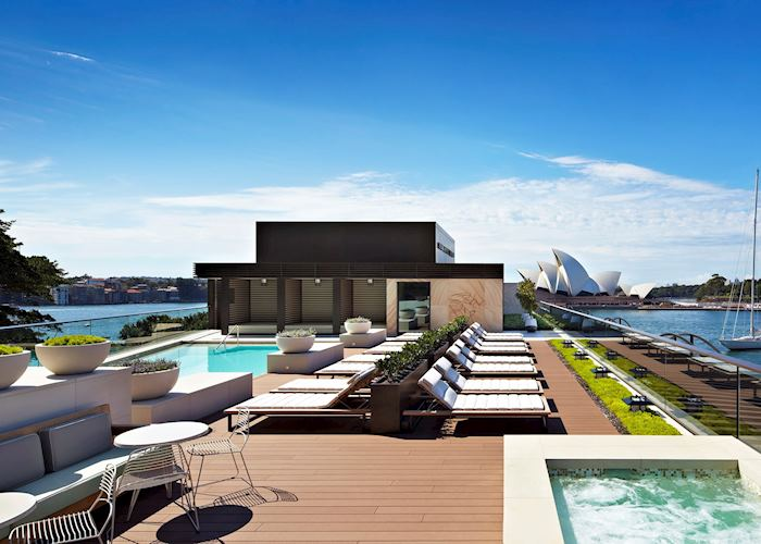 Rooftop pool at the Park Hyatt Hotel, Sydney