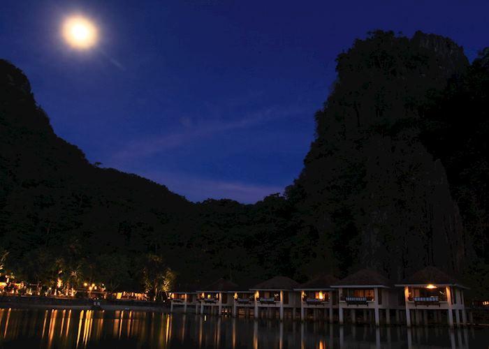 El Nido Lagen cove at night