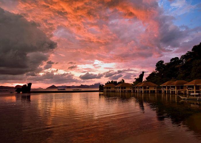 Sunset from El Nido Lagen resort