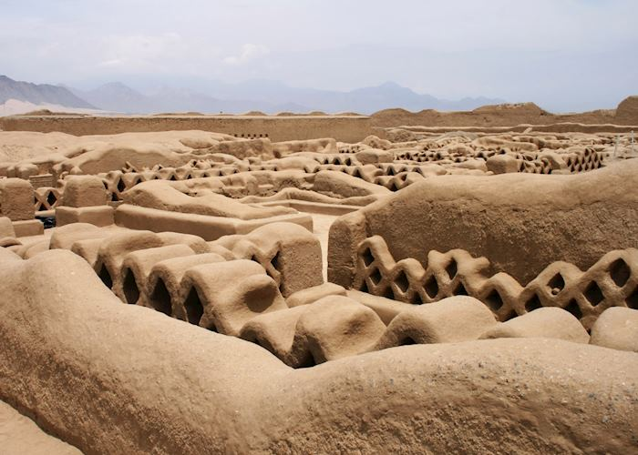 Adobe Walls, Chan Chan, Chimu culture, Peru