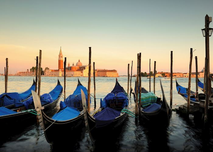 Gondolas at Sunset, Venice