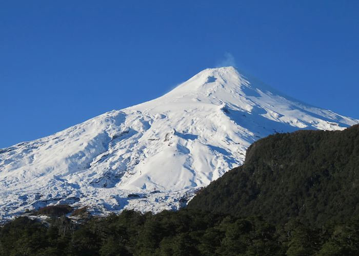 Smoking Villarrica Volcano