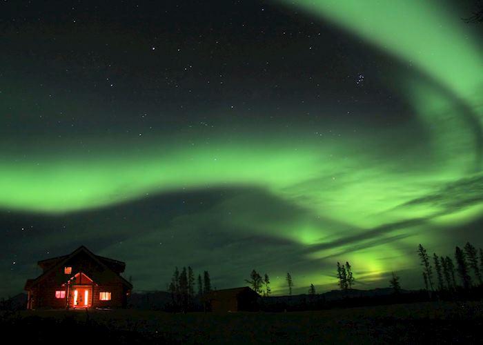 Aurora Borealis above Trading Post
