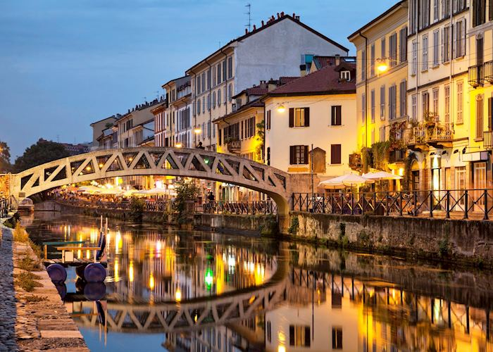 Bridge across the Naviglio Grande Canal, Milan