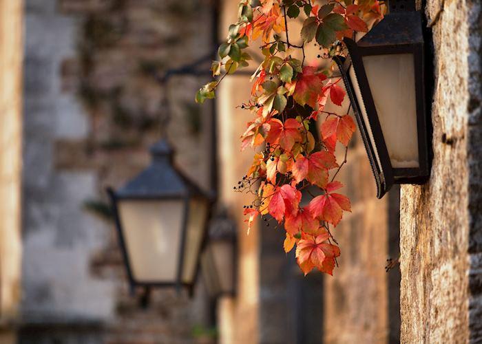 Street lamps, San Gimignano, Tuscany