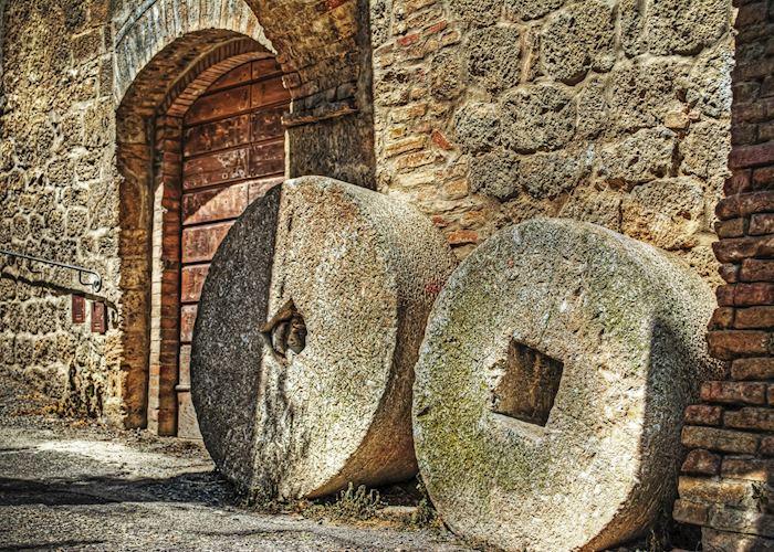Millstones in San Gimignano, Tuscany
