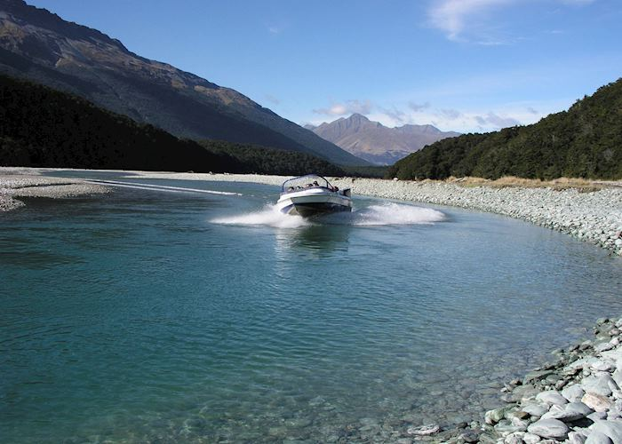Jet boat on the Dart River
