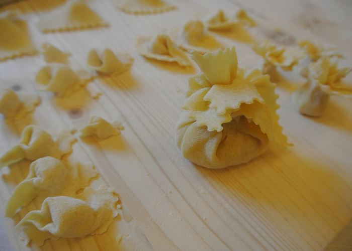 Pasta making at Castello di Meleto