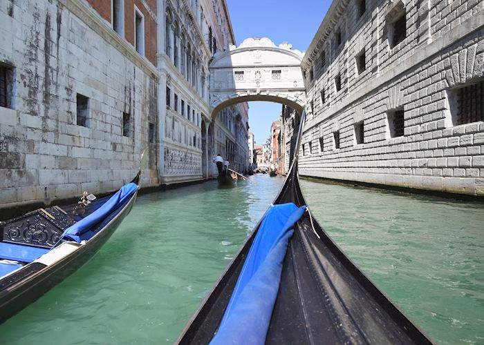Palace canal and Bridge of Sighs, Venice