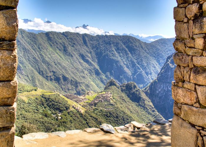 View of Machu Picchu from the Sun Gate, Peru