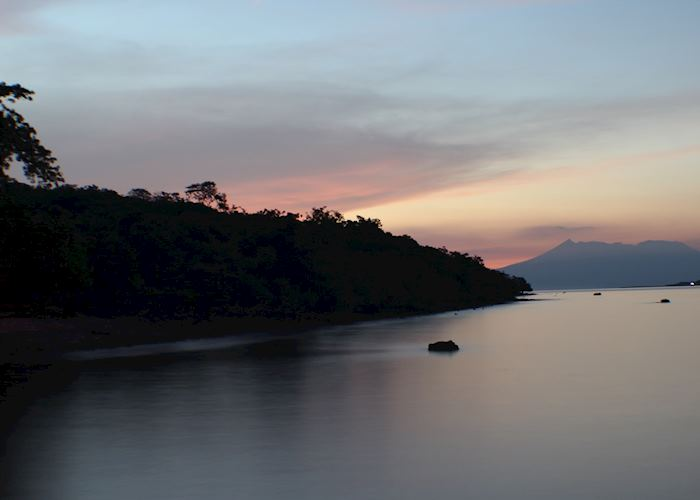 Bali Barat sunset overlooking Ijen on Java