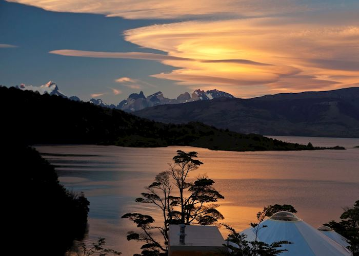 View to the Torres, Patagonia Camp, Torres del Paine National Park