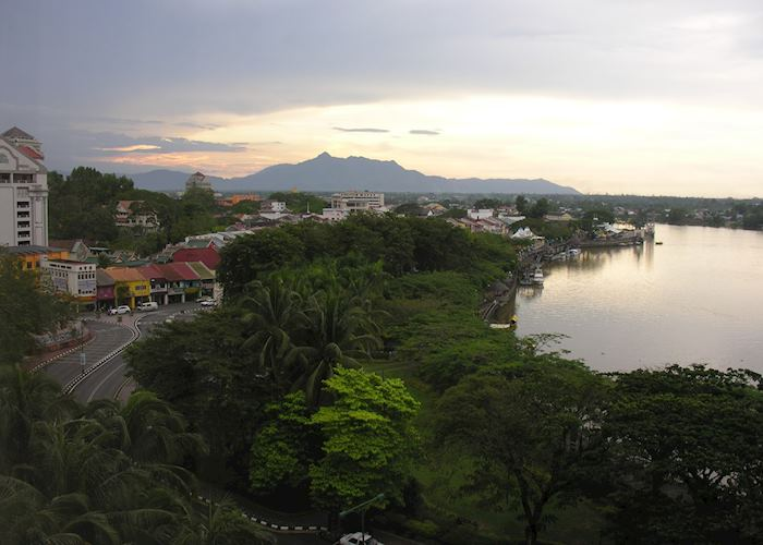 View of the Sarawak River from the Kuching Hilton