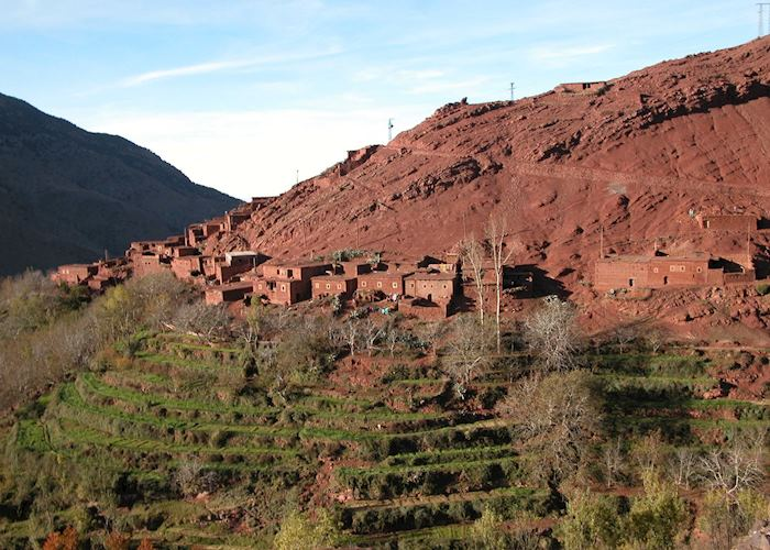 View from Azzaden Trekking Lodge, The High Atlas Mountains