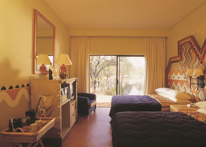One of the comfortable rooms
