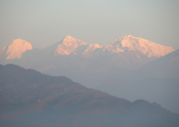 Sunrise over the Himalayas, from Nagarkot