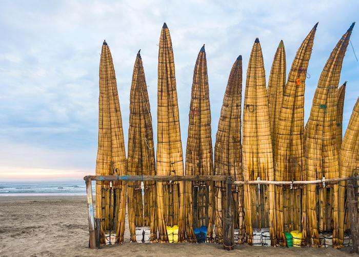 Reed surf boards, Trujillo beach
