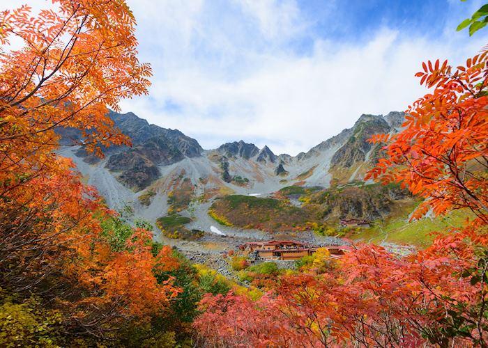 Autumnal foliage in Kamikochi National Park
