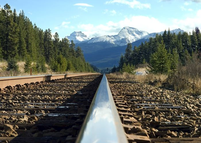 Train track in the Rockies