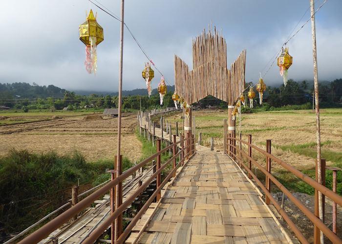 Su Tong Pae Bamboo Bridge, near Mae Hong Son