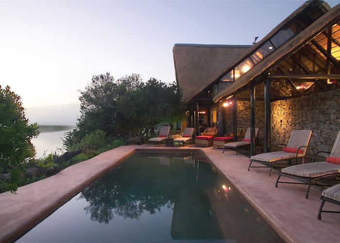 Kariega River Lodge, pool area