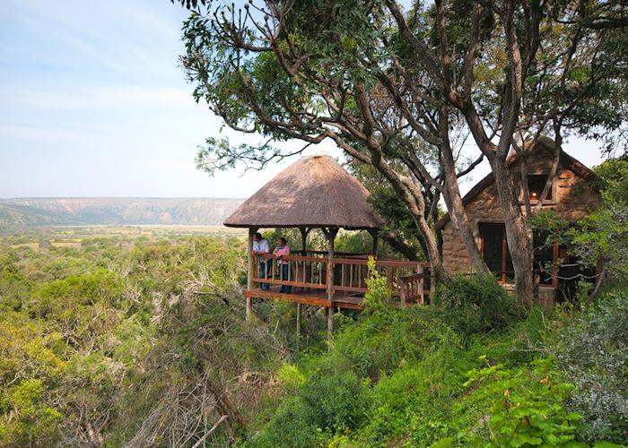Amakhala Woodbury Lodge.  View from deck