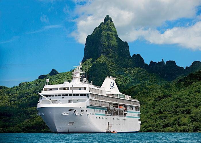 Paul Gauguin Cruise Ship at Bora Bora, Tahiti