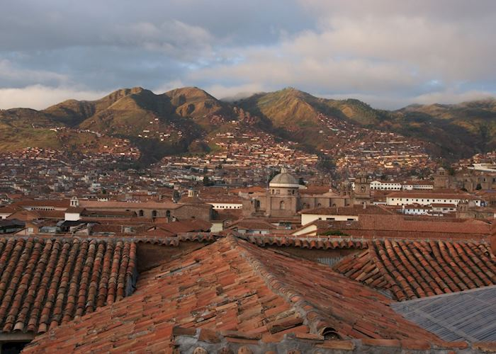 Cuzco rooftops, a view from the Casa San Blas