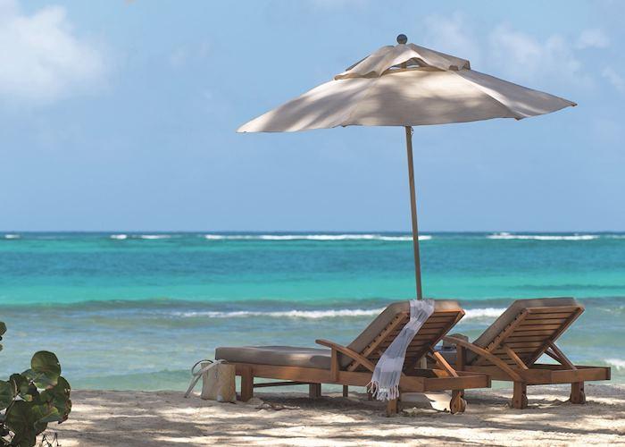 Beach loungers, Petit St. Vincent, Petit St Vincent