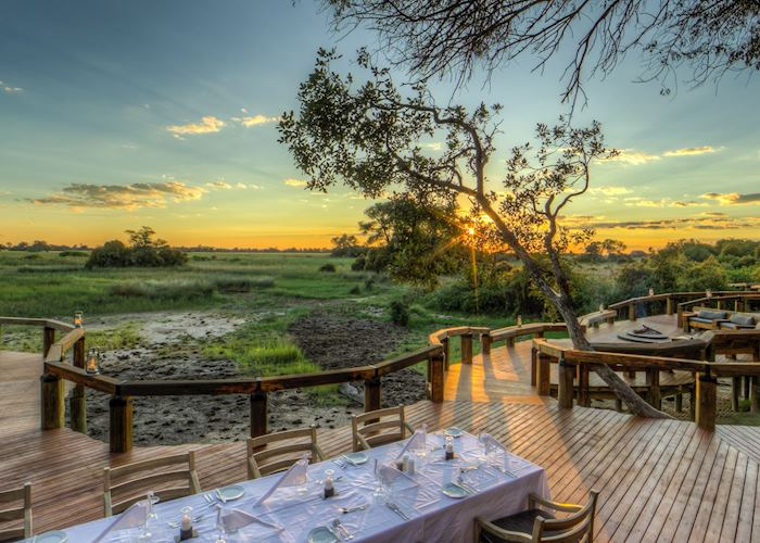 Outdoor dining at Camp Okavango