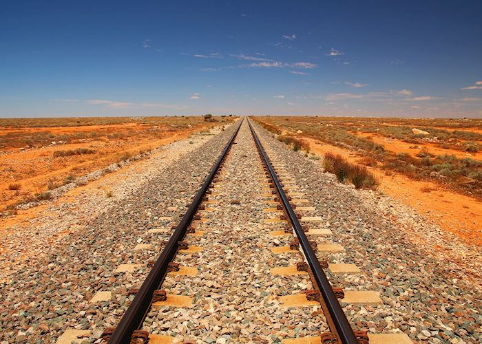 Railway Tracks through the Outback