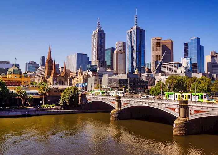 Melbourne city and Yarra River