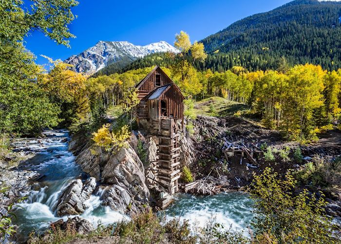Abandon Crystal Mill near Aspen
