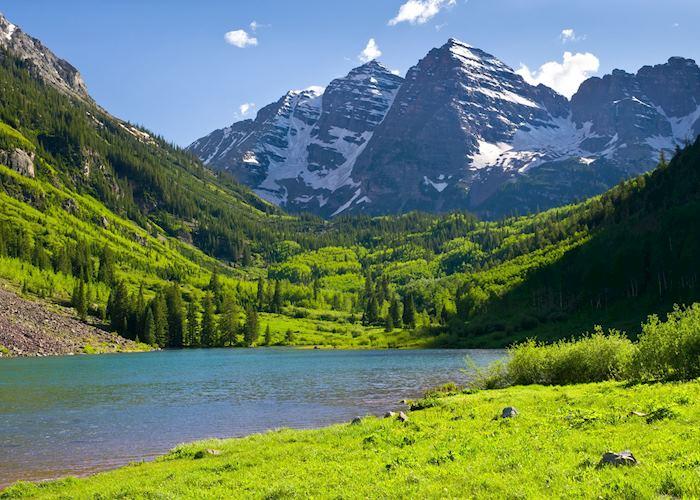 Maroon Bells in Summer, Aspen
