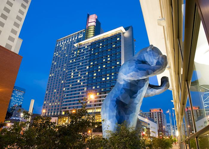 Blue Bear - Public Art in Denver